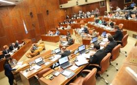 Foto de archivo de la Duodécima Sesión del período ordinario en que fue aprobada la resolución de creación de la Comisión de Auditoría de Obra Pública