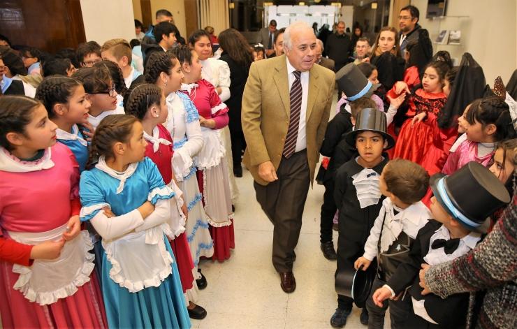 El vicegobernador Marcelo Lima en el acto de la Independencia celebrado en el Hall del edificio legislativo.
