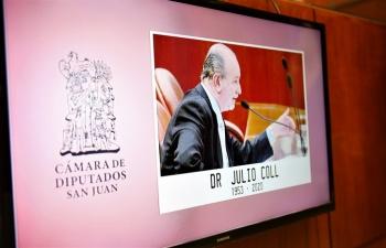 Rindieron homenaje a la figura de Julio Coll durante la Décima Sesión